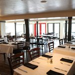Lefty's offers casual, white tabel cloth dining