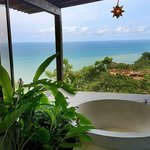 Bathroom view from the Ananda Cabina