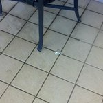                                      dirt and hair for two days