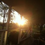                    Sunset from the verandah of the 2 bedroom cottage
