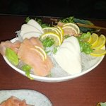                    White tuna and smoked salmon sashimi
