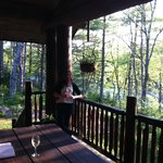                    A glass of wine before dinner on the veranda