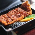 Nice Sauce Tonkatsu (Pork cutlet) at the restaurant just outside the hotel. Op