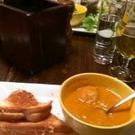                    Gruyere cheese sandwich with tomato soup