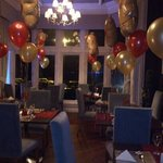                    the beautifully decorated Darwin restaurant  for Valentine&#39;s day....