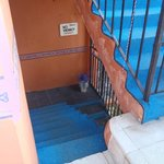 Steps to apartments