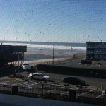Ocean view from room 208, looking thru balcony screen door