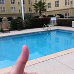 good pool (in the summer) smokers love it year round, lol