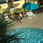Sparkling-clean pool - on view from our 3rd floor room