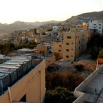 View over Wadi Musa from their awesome roof terrace