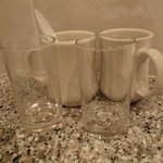                                      Mugs/Glasses never replaced or washed by cleaners