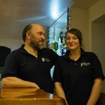 Owner Steve and chef Amy