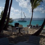 view from breakfast table...pirate catamaran