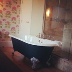 Beautiful free standing bath in the bedroom!