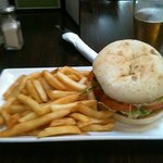 Roast Chicken breast burger