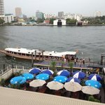 view from balcony , of river taxi