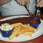 Rib plate...really great!My hubby managed to eat it without spilling anything