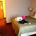 Our room, excuse the blur. lol