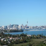 Looking back to Downtown Auckland & Sky Tower