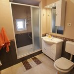 Shower cabin with toilet