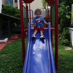 my grandson on the slide loved it