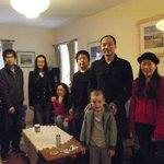 Guests from China relaxing in Ground floor flat at Arkland