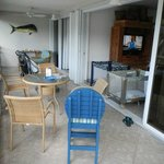 screened porch (huge) opened on to living room and master