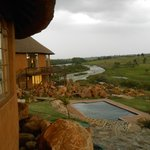 View from King Shaka overlooking pool & Buffalo river