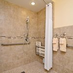 Guest Bathroom With Mobility Accessible Shower