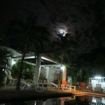                   Full Moon over Pool and Courtyard