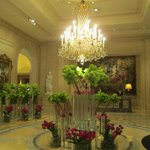                    Beautiful Jeff Leatham flowers in the lobby.