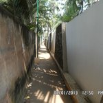 Narrow lane towards Hotel