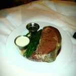 prime rib meal with green beans (served with alfredo potatoes and clam chowder