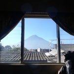Great volcano view from our room on the 2n