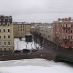                    View over the frozen Moika River