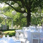 outdoor event dining