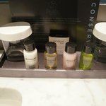 Free toiletries in the bathroom! :)