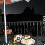 Cheese and wine on the terrace with a view of the Pena