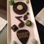 Chocolates in-room as part of our Rock and Roll Hall of Fame package
