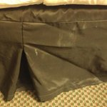 disgusting bed skirt with white stains