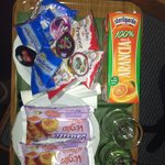 Our breakfast left in our room by Susanna for 5.30am