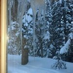 Icicles outside of our kitchen window, cabin #7