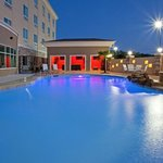  Swim in the dancing lights of the Outdoor Pool