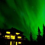  Northern Lights over the Talkeetna Chalet