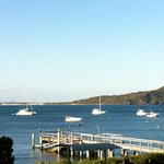                    The stunning views from the first floor of the Shoal Bay Resort
