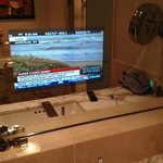                    Built-in TV of bathroom mirror