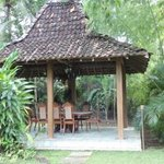  lovely private dinning gazebo