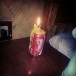the candle they provided us