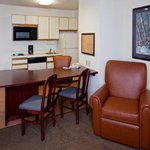 1 Bedroom Suite Desk and Kitchenette