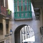                    View from our window to Placa Reial